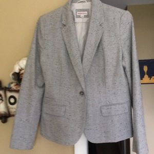 Gray black-speckled suit jacket